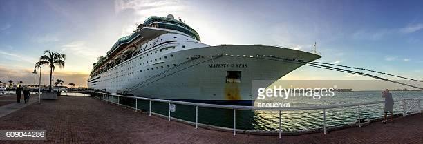 Cruise Ship on sunset, Key West
