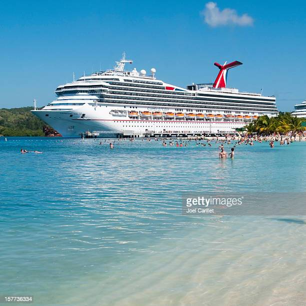 Cruise ship in Caribbean port
