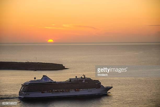 Crucero-Santorini, Grecia