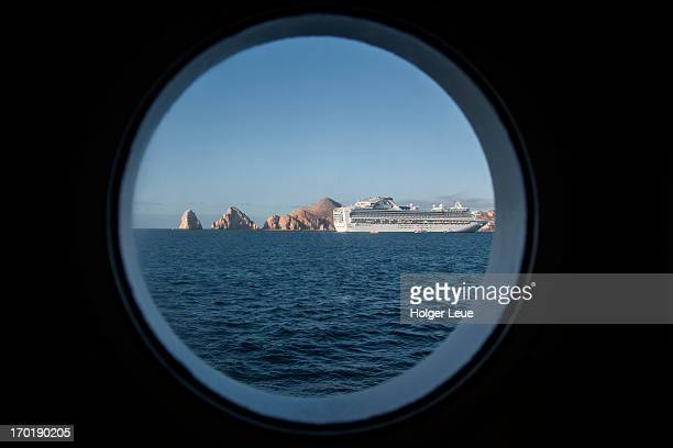 Cruise ship Sapphire Princess through porthole
