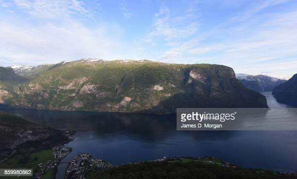 Cruise ship seen sailing through the fjords of Northern Norway on February 8th 2017 in Norway