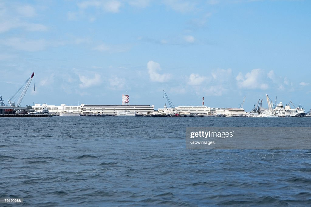 Cruise ships at a commercial dock, Pearl Harbor, Honolulu, Oahu, Hawaii Islands, USA : Stock Photo