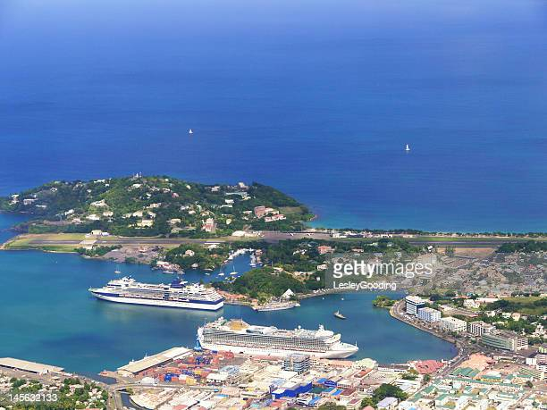 Cruise ships docked in Castries