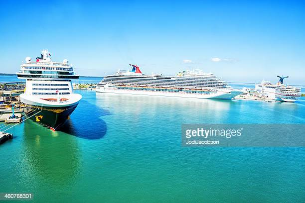 Cruise ships docked in Port Canaveral, Florida