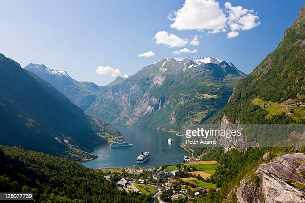 Cruise ships, Geirangerfjord, Western fjords, Norway