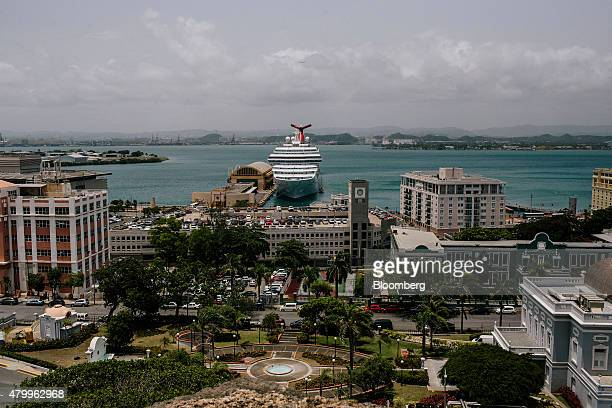A cruise ships sits docked past the Old City of San Juan Puerto Rico on Wednesday July 8 2015 A growing number of Republicans in the US Congress are...