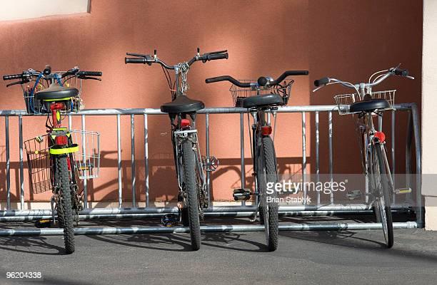 Cruiser Bicycles in Bike Rack