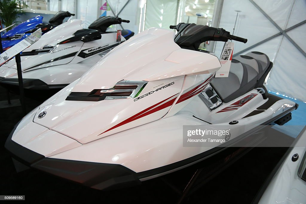 FX Cruiser SHO at the Miami International Boat Show on February 11, 2016 in Miami, Florida.