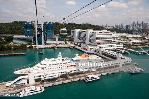 Cruiseship Mv Columbus At Singapore Cruise Terminal Stock