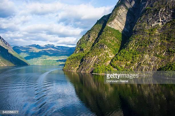 Cruising up Geiranger Fjord, Norway