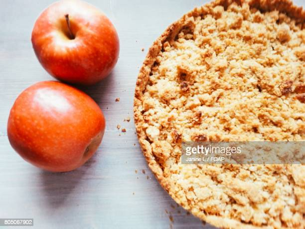 Crumble with apple fruits