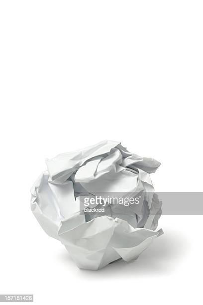 Écroulée papier