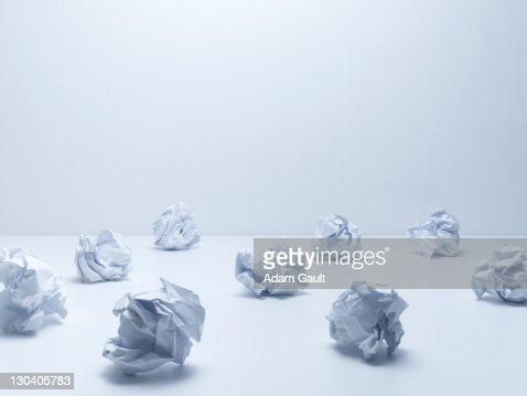 Crumpled balls of paper