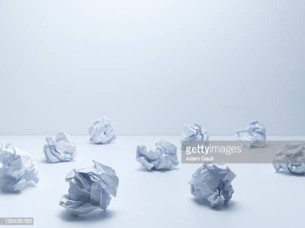 Crumpled balls of paper