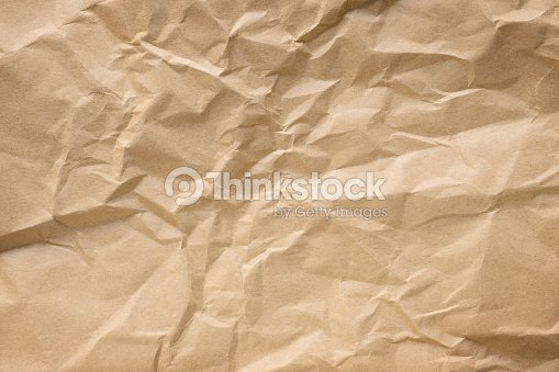 Crumpled Craft Paper Texture Stock Photo Thinkstock