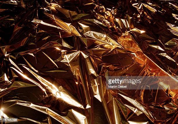Crumpled gold foil