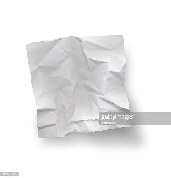 Note de Papier froissé