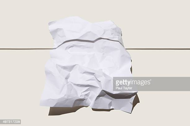 Crumpled Paper and Shadow