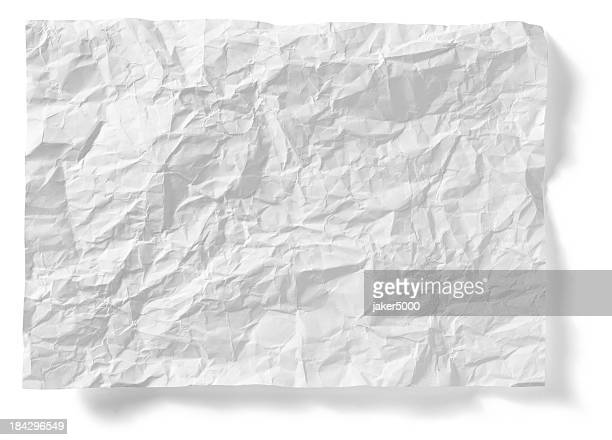Crumpled paper sheet