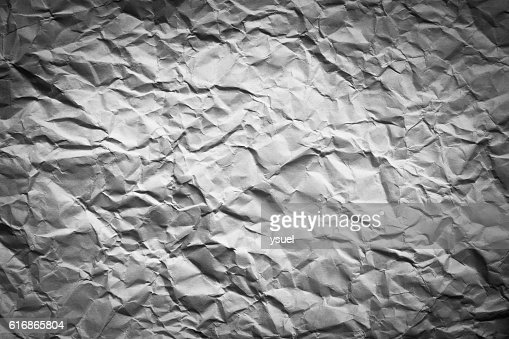 crumpled  paper texture with vignette : Stock Photo