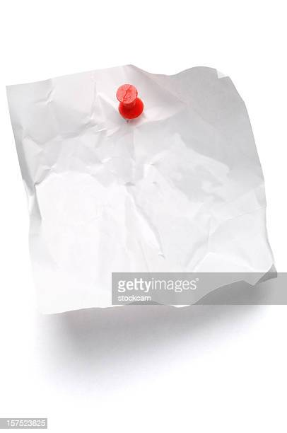 Crumpled Post-it Note on white