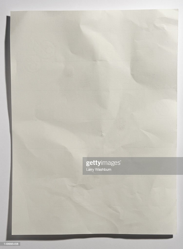 A crumpled sheet of paper