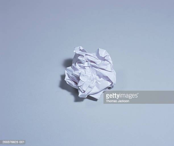 Crumpled sheet of white paper