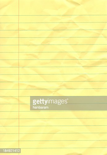 Crumpled yellow notepad