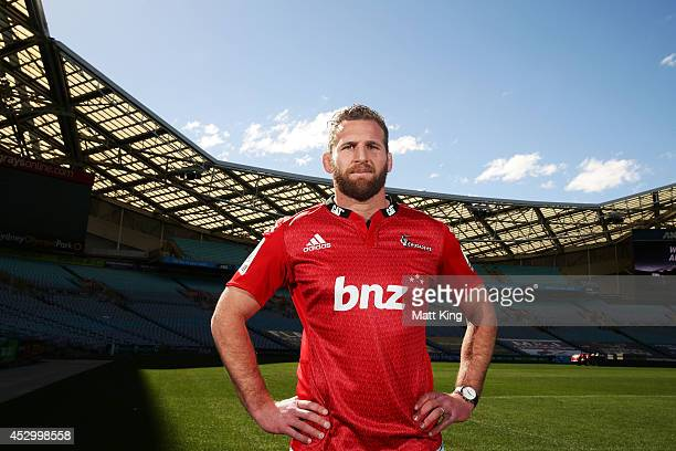Crusaders captain Kieran Read poses during the Super Rugby media opportunity at ANZ Stadium on August 1 2014 ahead of the Grand Final match tomorrow...