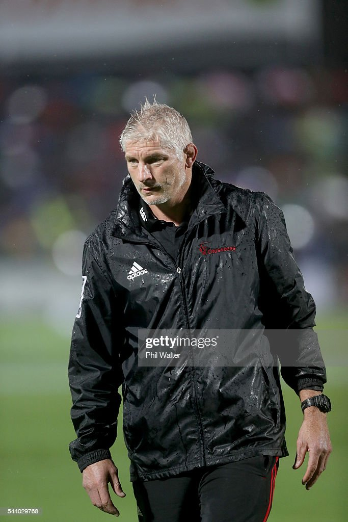 Crusaders coach Todd Blackadder before the round 15 Super Rugby match between the Chiefs and the Crusaders at ANZ Stadium on July 1, 2016 in Suva, Fiji.