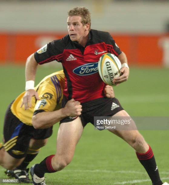 Crusaders Jamie Nutbrown against the Hurricanes in the Super 12 rugby match at Westpac Stadium Wellington New Zealand Friday May 07 2004 The...