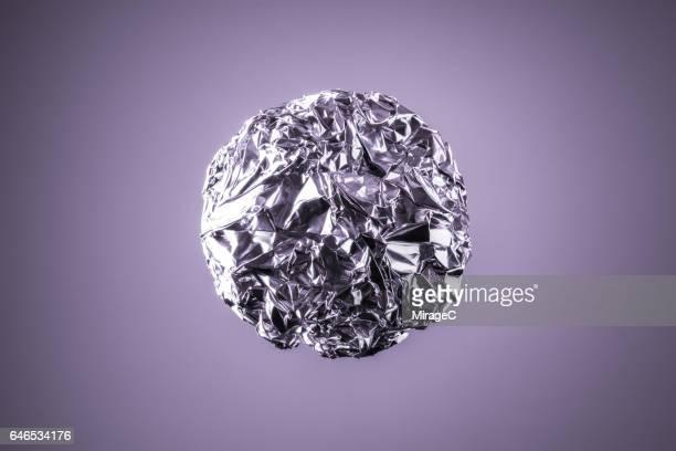 Crushed Aluminum Foil Ball