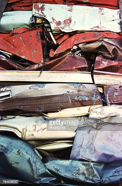 Crushed automobiles