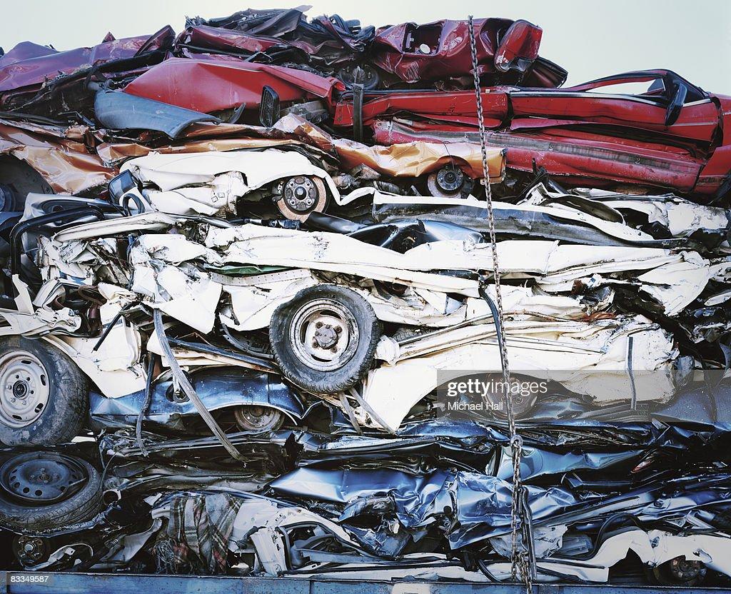 Crushed cars : Stock Photo