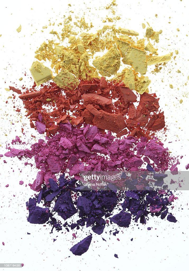 Crushed Eyeshadow Pigments : Stock Photo
