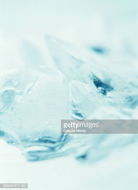 Crushed ice, close-up