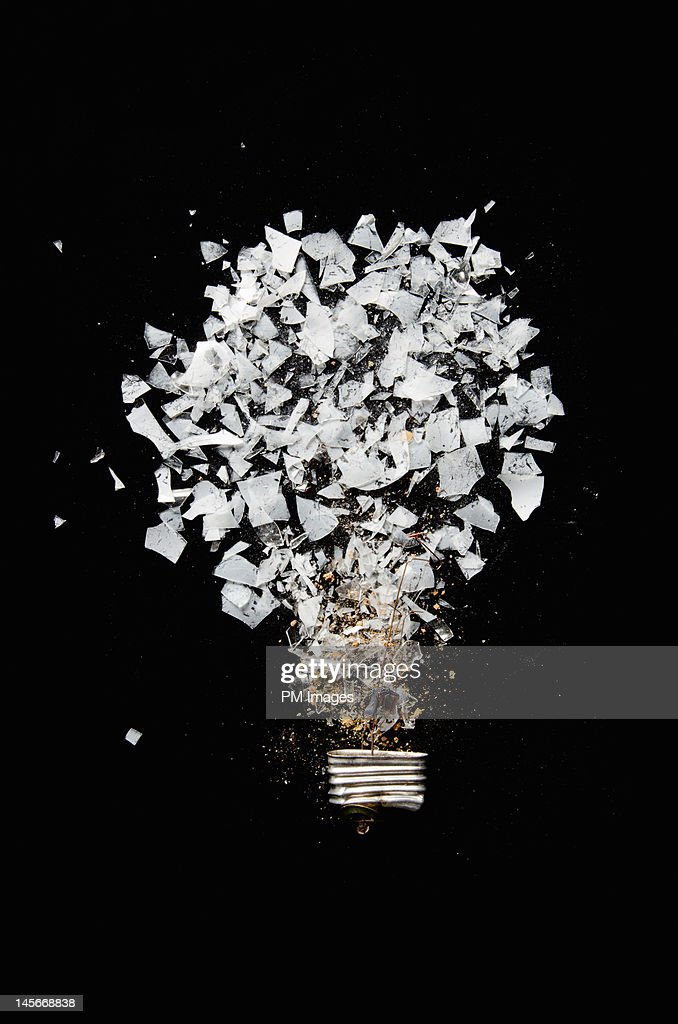 Crushed Lightbulb : Stock Photo