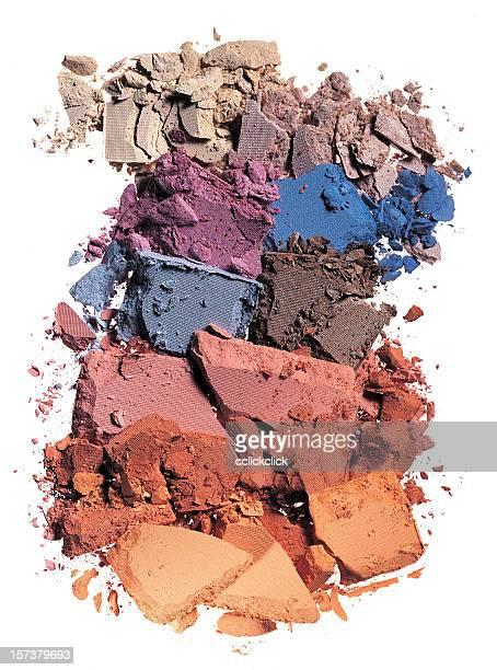 Crushed makeup of various colors