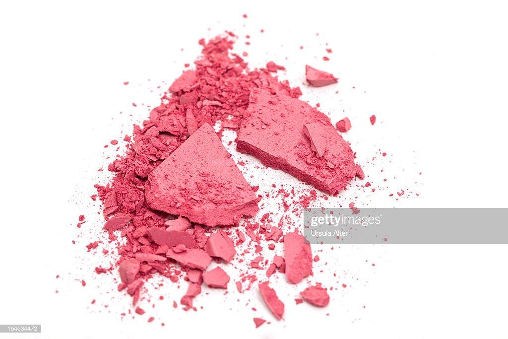 crushed pink eyeshadow