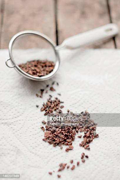 Crushed raw cocoa