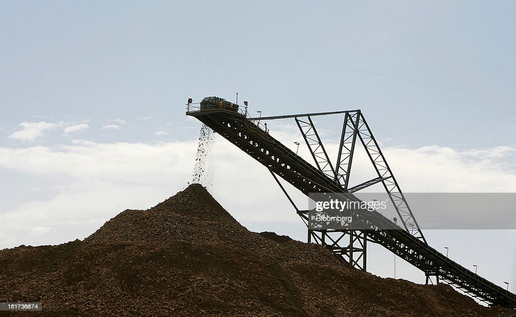 A crushing conveyor transports ore at the G-Resources Group Ltd. Martabe gold and silver mine in Batang Toru, North Sumatra province, Indonesia, on Tuesday, Feb. 12, 2013. G-Resources is scheduled to announce financial results on Feb. 28. Photographer: Dadang Tri/Bloomberg via Getty Images