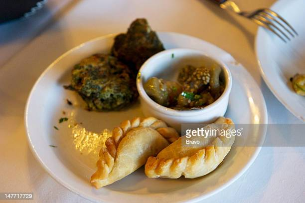 PLATES 'Cry for Me Argentina' Episode 109 Pictured Empanadas in Buenos Aires Argentina in 2011