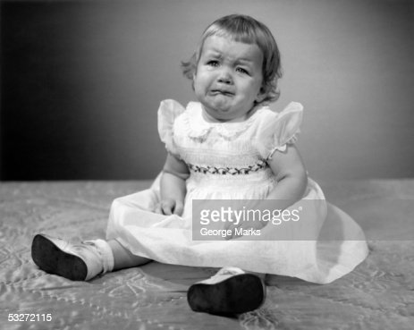 Crying little girl : Stock Photo