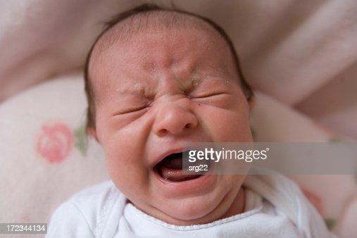 Crying Newborn : Stock Photo