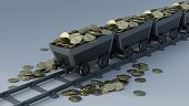 3D Render of Crypto Currency Mining