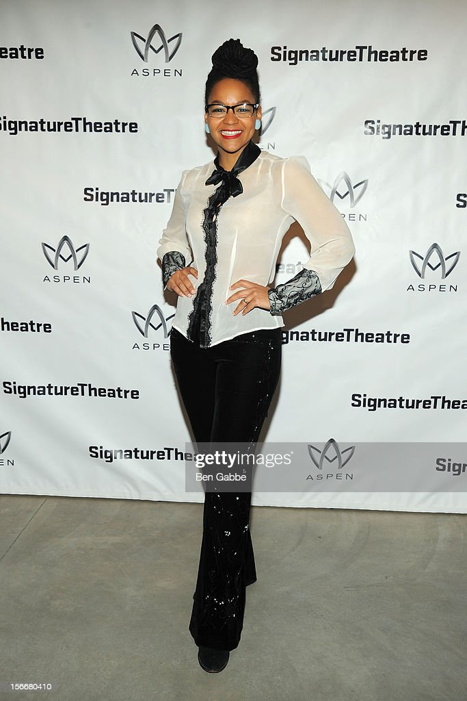 Crystal A. Dickinson attends 'The Piano Lesson' Opening Night Party at Signature Theater Company's Peter Norton Space on November 18, 2012 in New York City.