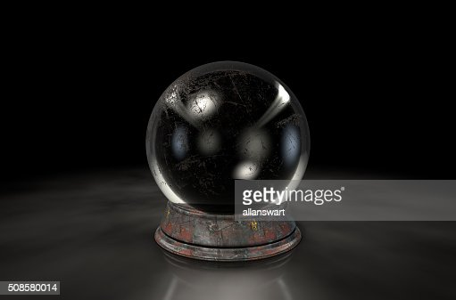 Crystal Ball Dark : Bildbanksbilder