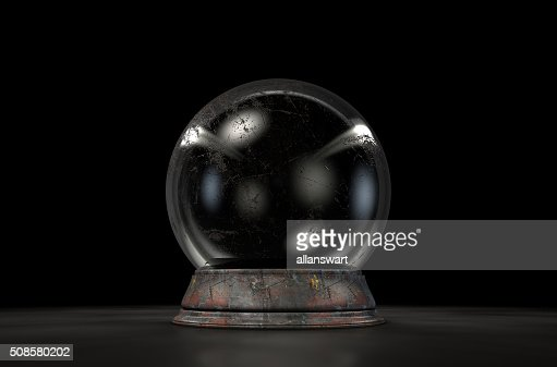 Crystal Ball Dark : Stockfoto