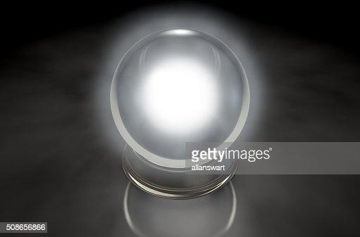 Crystal Ball Glowing : Stock Photo