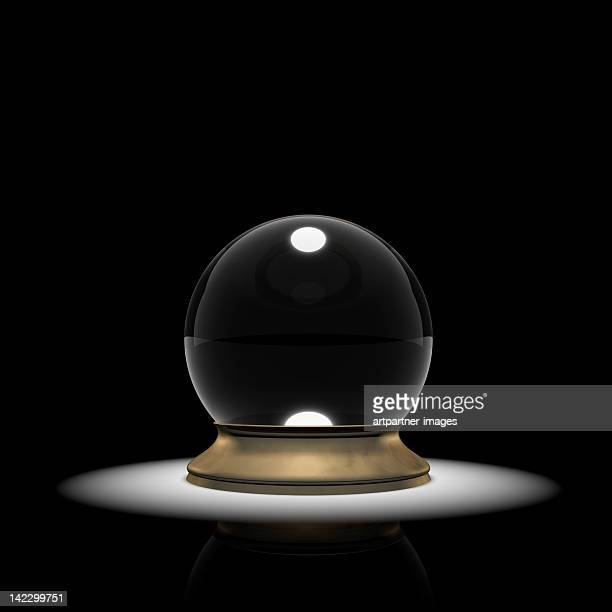 Crystal ball in a spotlight